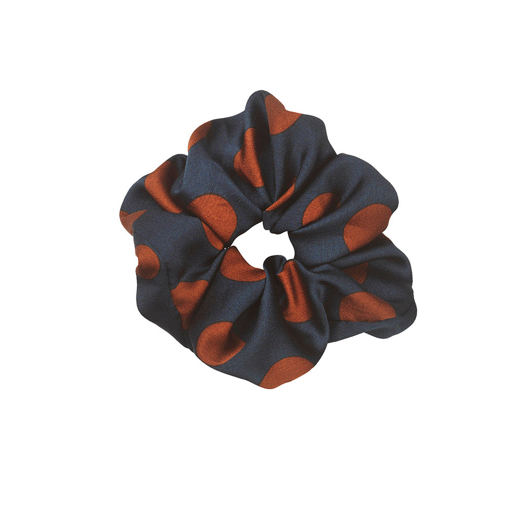 UNMADE Oril Navy Blue Scrunchie
