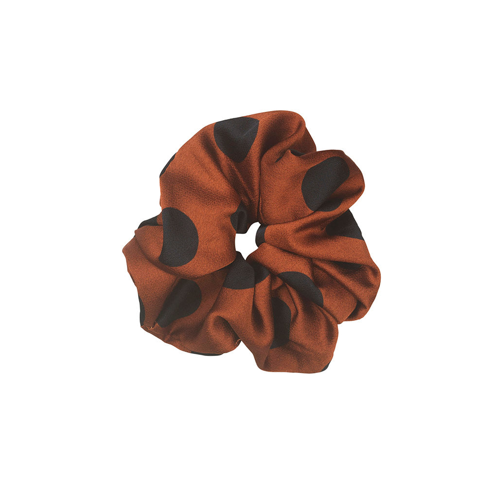 UNMADE Oril Bronze Brown Scrunchie
