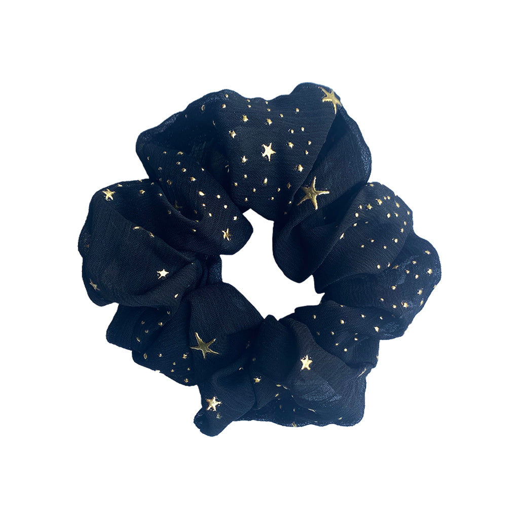 Heroines Flora Black Gold Scrunchie