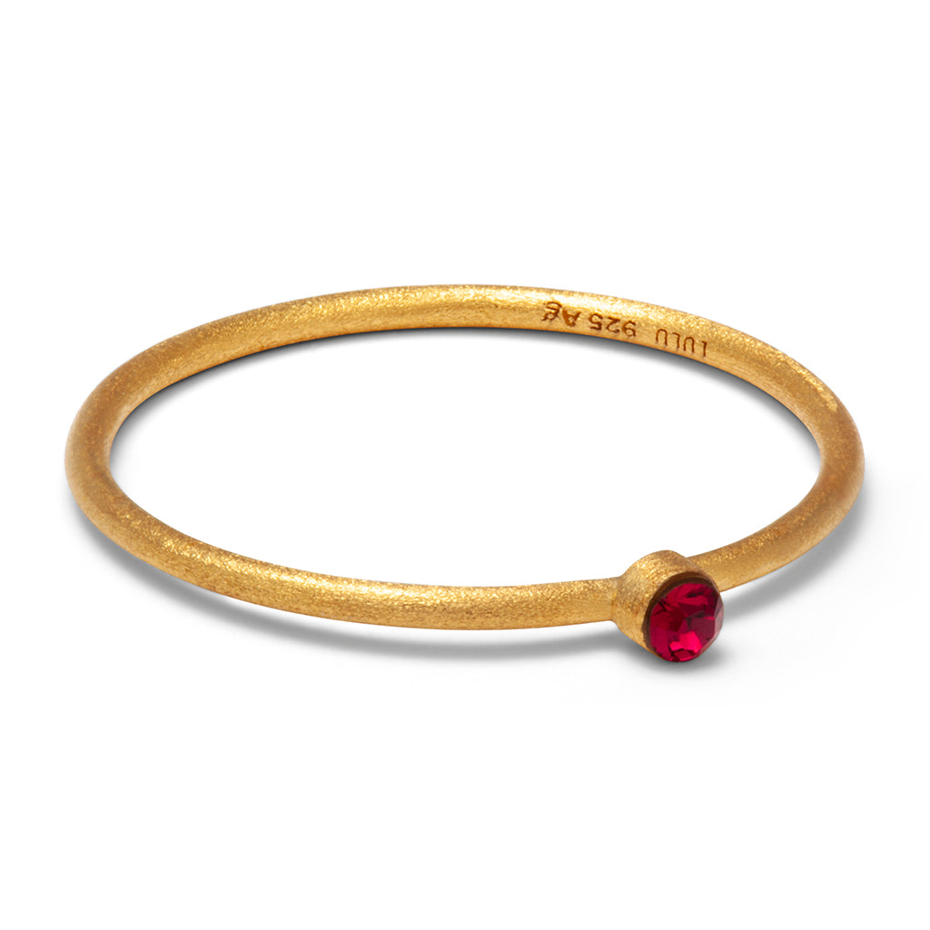 Lulu Copenhagen Bling Red Forgyldt ring