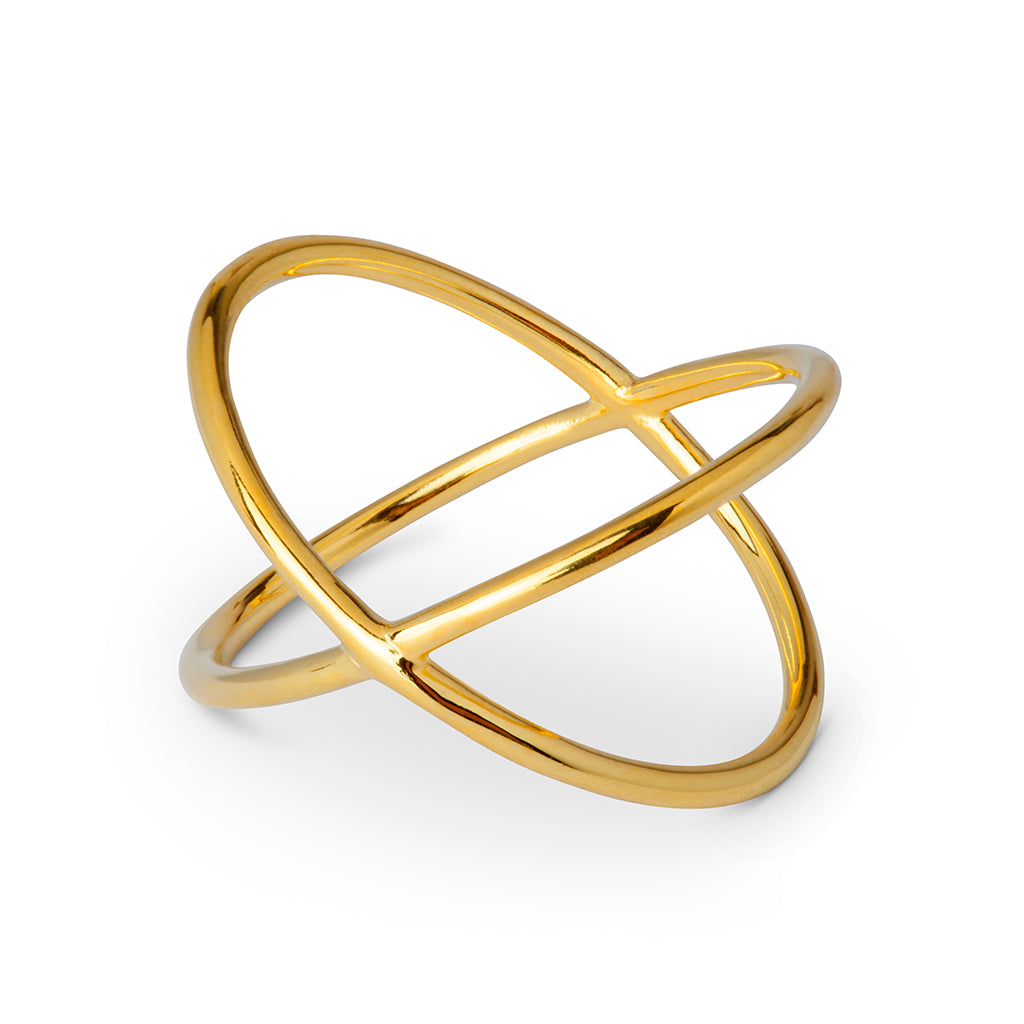 Atom Forgyldt Ring