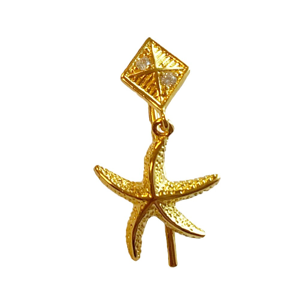 The Earring Shop Starfish Hook Forgyldt Ørering