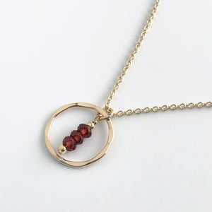 Garnet Eternity Necklace