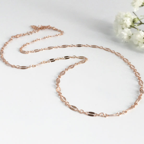 Delicate Rose Gold Choker Necklace