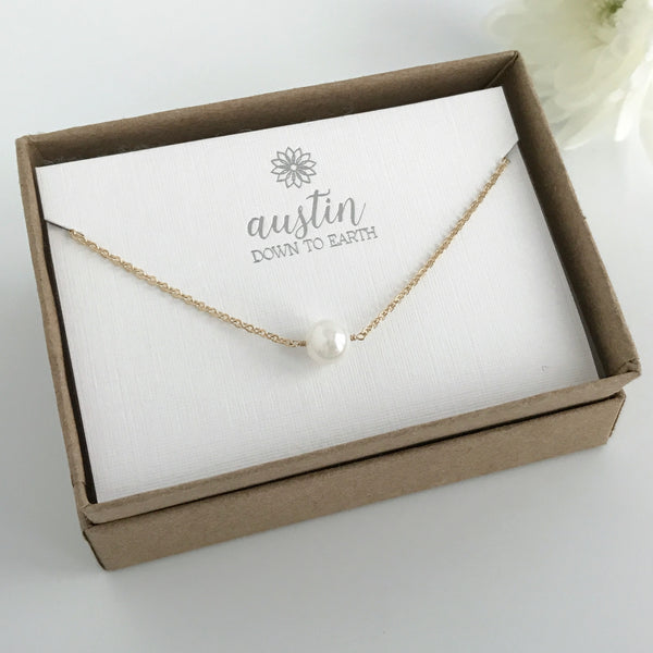 Single Pearl Necklace - Akoya Pearl