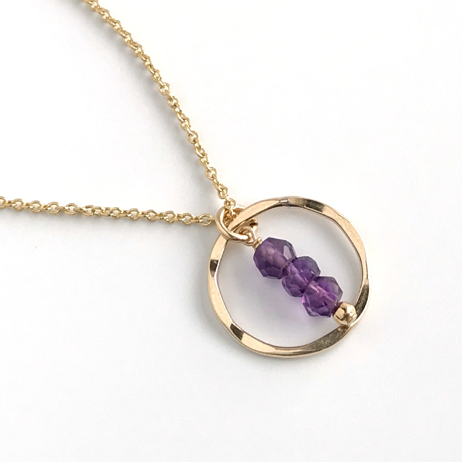 Amethyst Eternity Circle Necklace