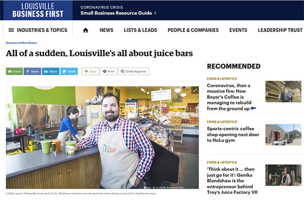 LOUISVILLE Business First: All of a sudden, Louisville's all about juice bars