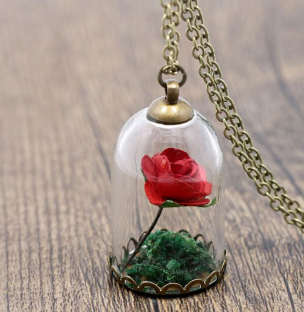 Red Red Rose Necklace