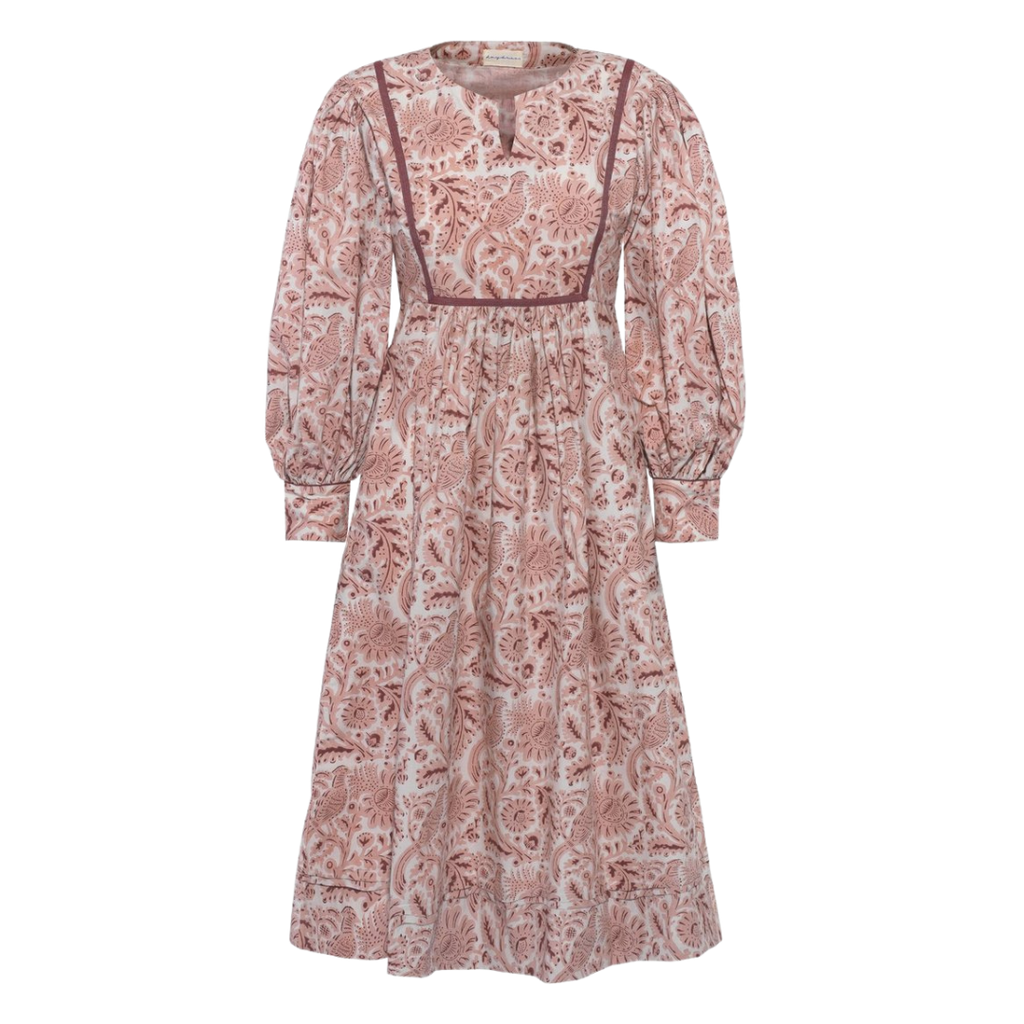 Viv pink pheasant day dress