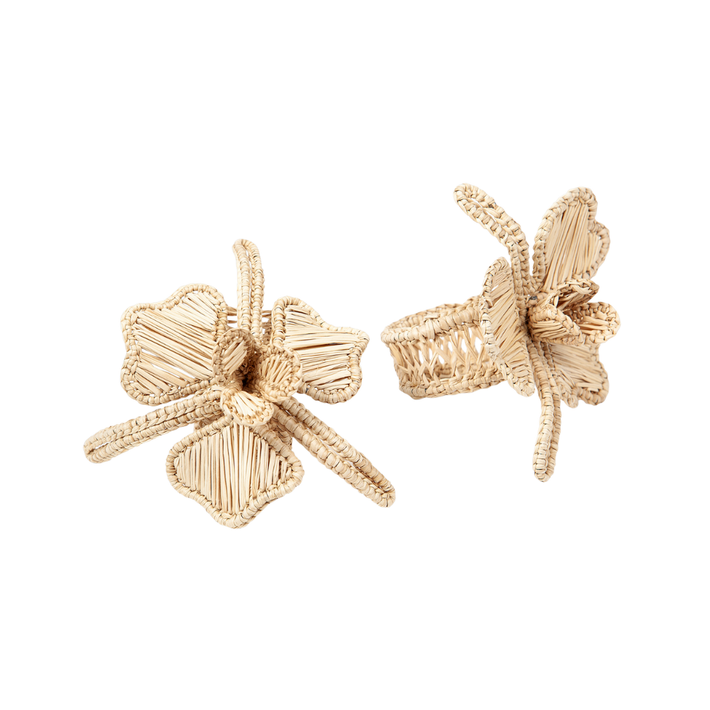 Land of Bell Iraca floral napkin rings