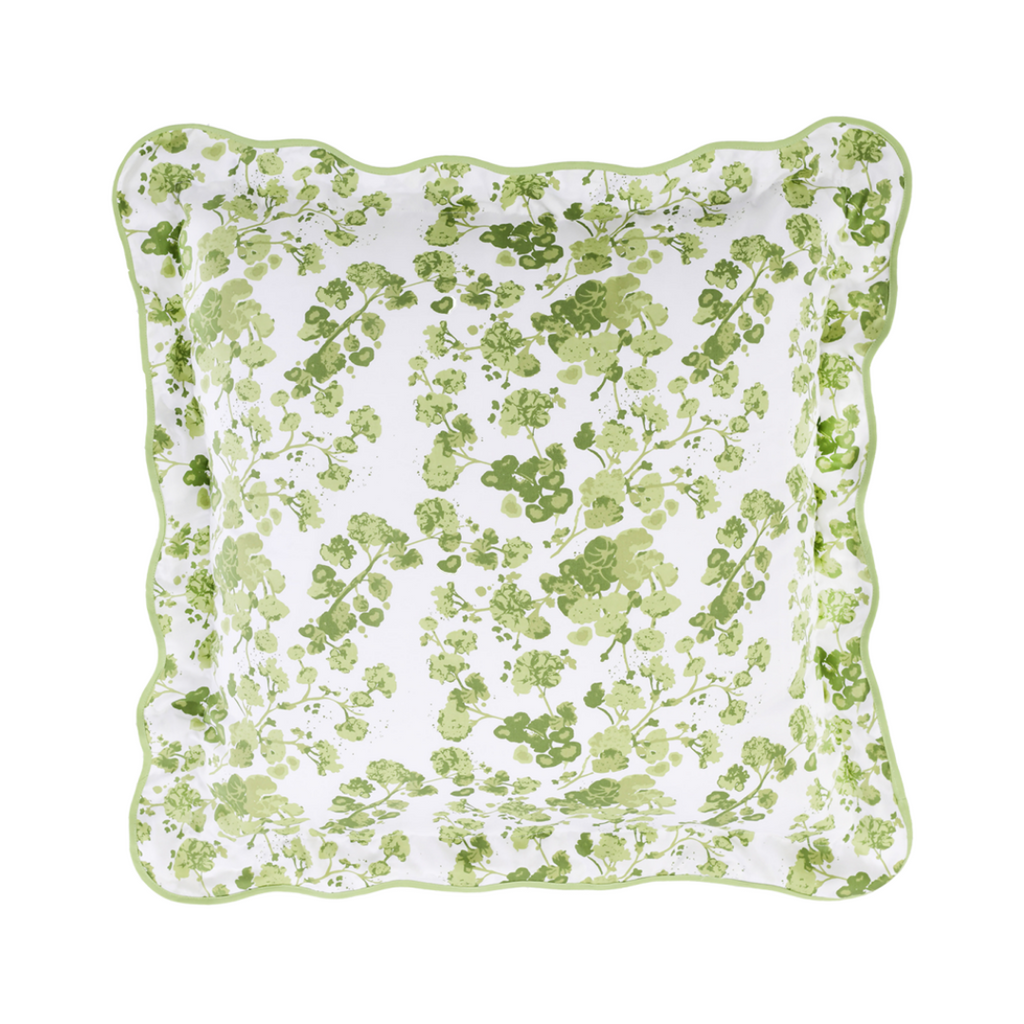 green biscuit patterned bedding