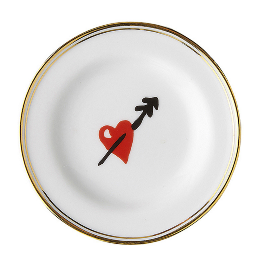 Funky Table heart plate