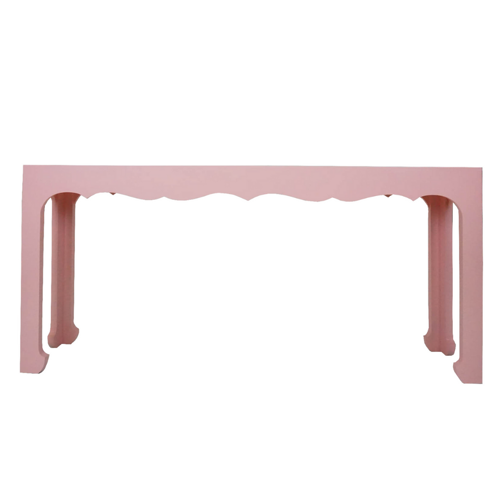 Pink Scallop Console Table