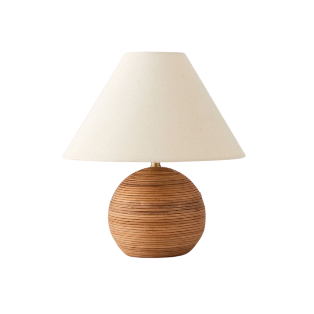 Urban Outfitters Angelo Rattan Table Lamp