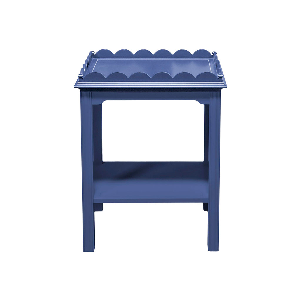 Blue Scalloped side table