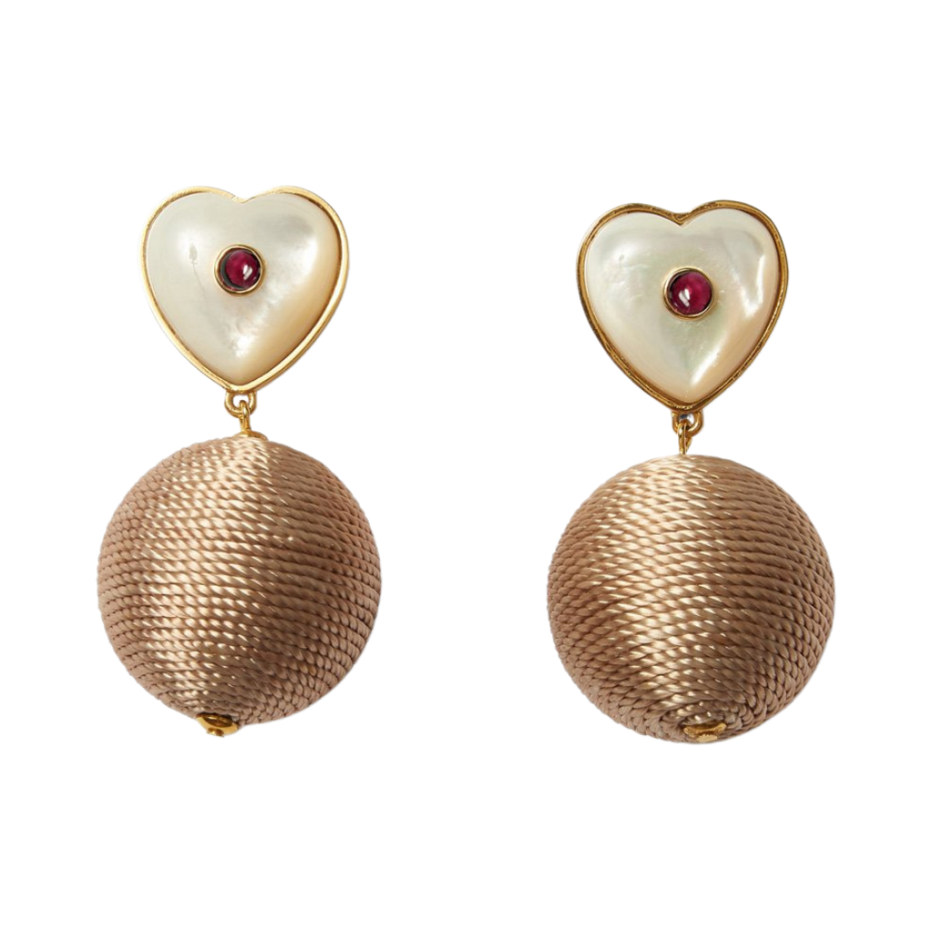 Lizzie Fortunato heart earrings