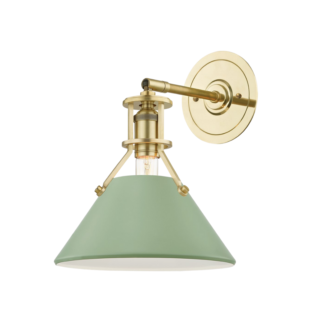 Hudson Valley Lighting moss and brass wall sconce