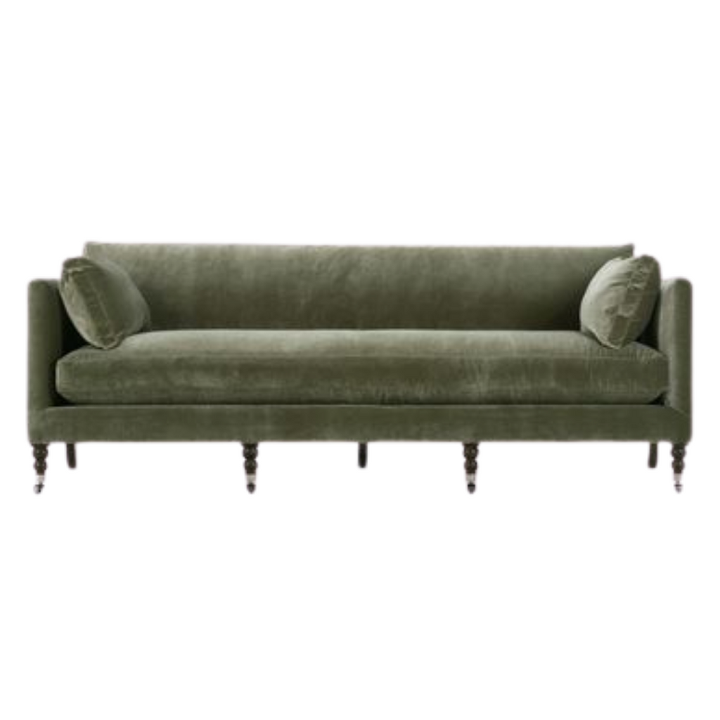 Lulu & Georgia Green velvet sofa