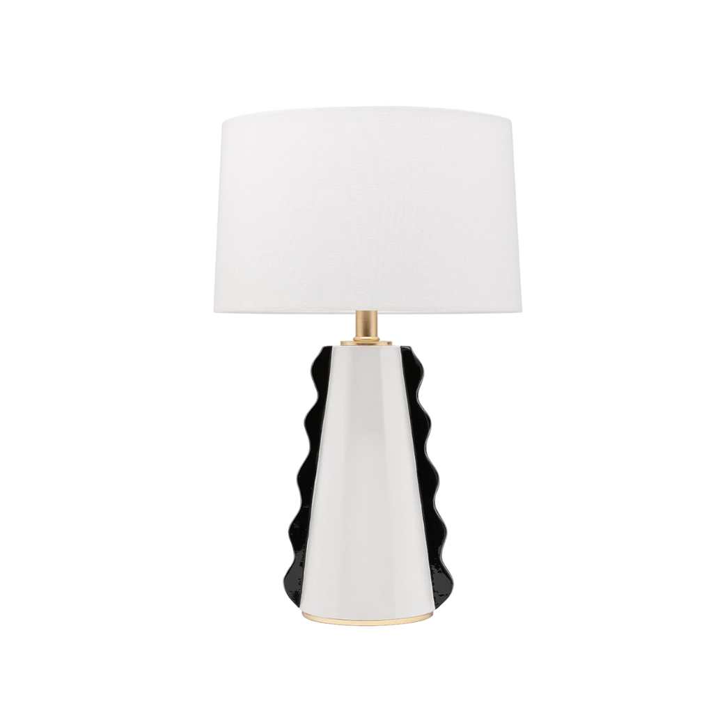 Mitzi Black & White Faith Table Light