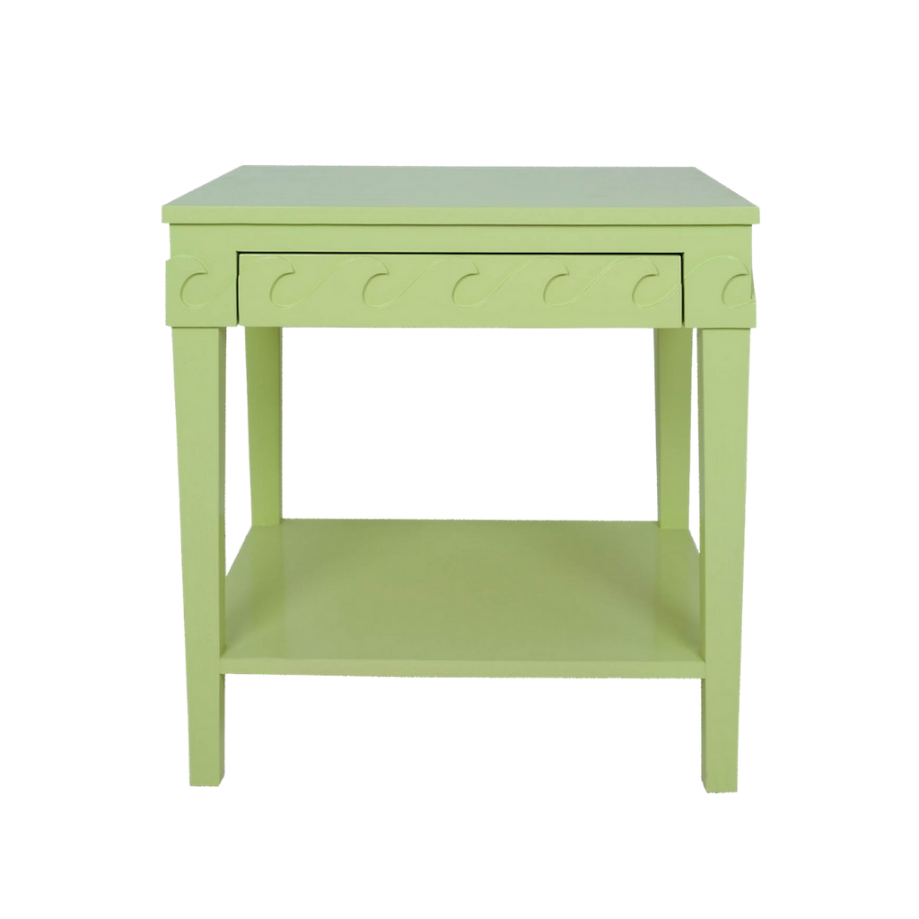 Madre Dallas Green Lacquered Wave Side Table