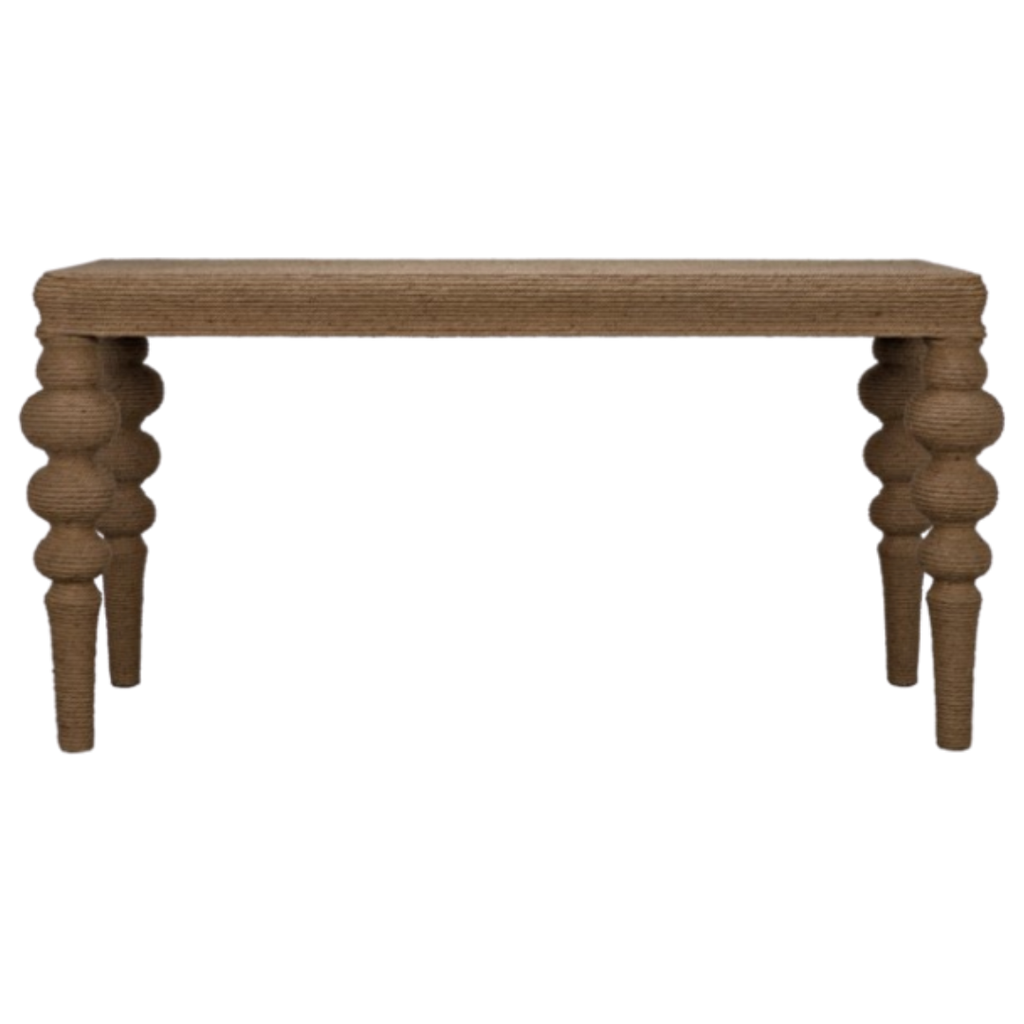 Rope Turned Leg Ismail Console