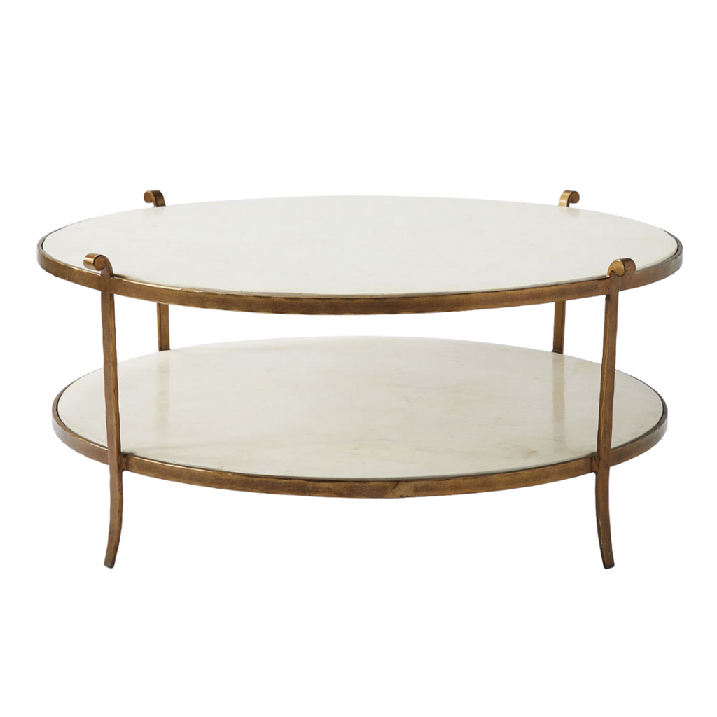 Serena & Lily St. Germain Stone Coffee Table