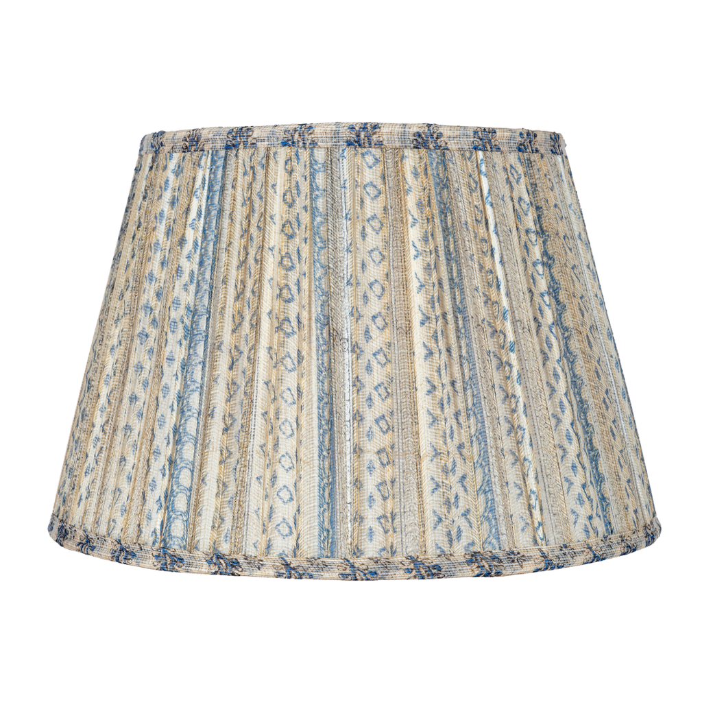 Hill & May Muscat Blue and White Lamp Shade