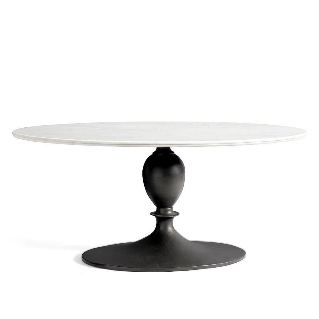 Pottery Barn Chapman Pedestal Oval Dining Table