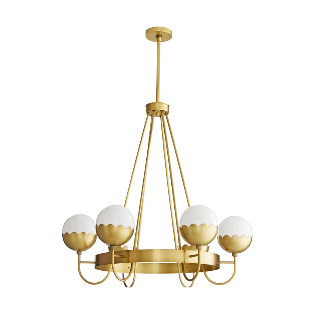 Gold scalloped chandelier