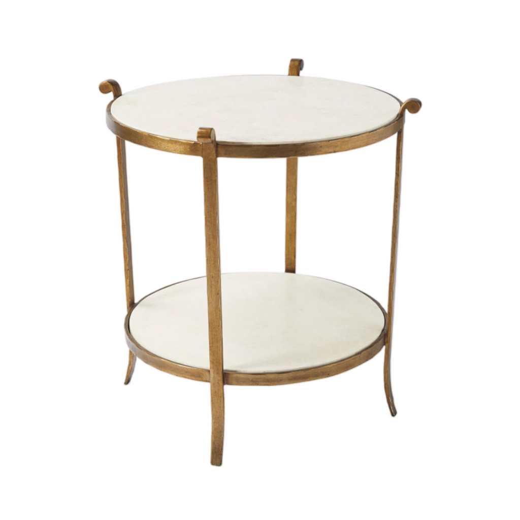 Serena & Lily St. Germain Stone Side Table