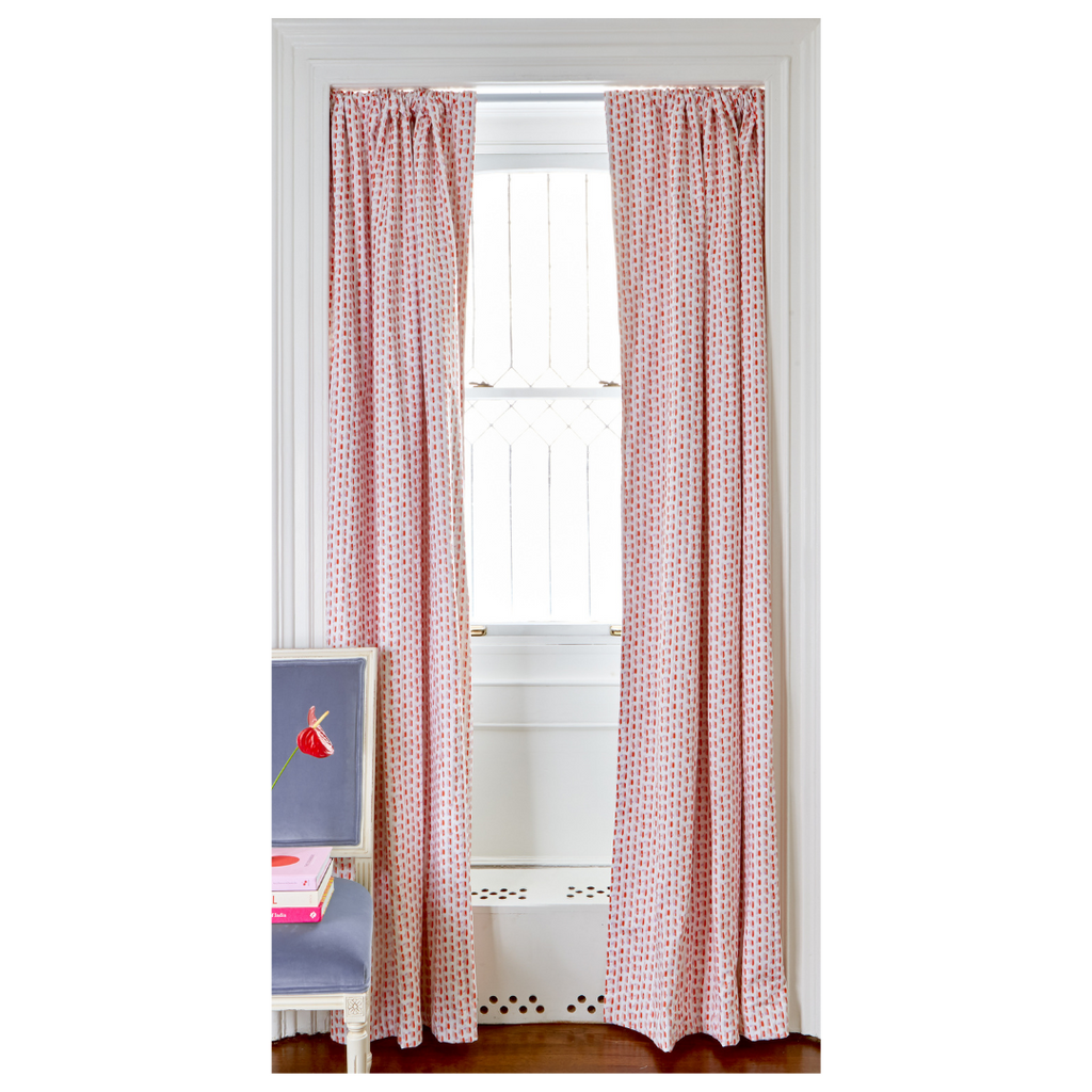Poppy Pink Curtains