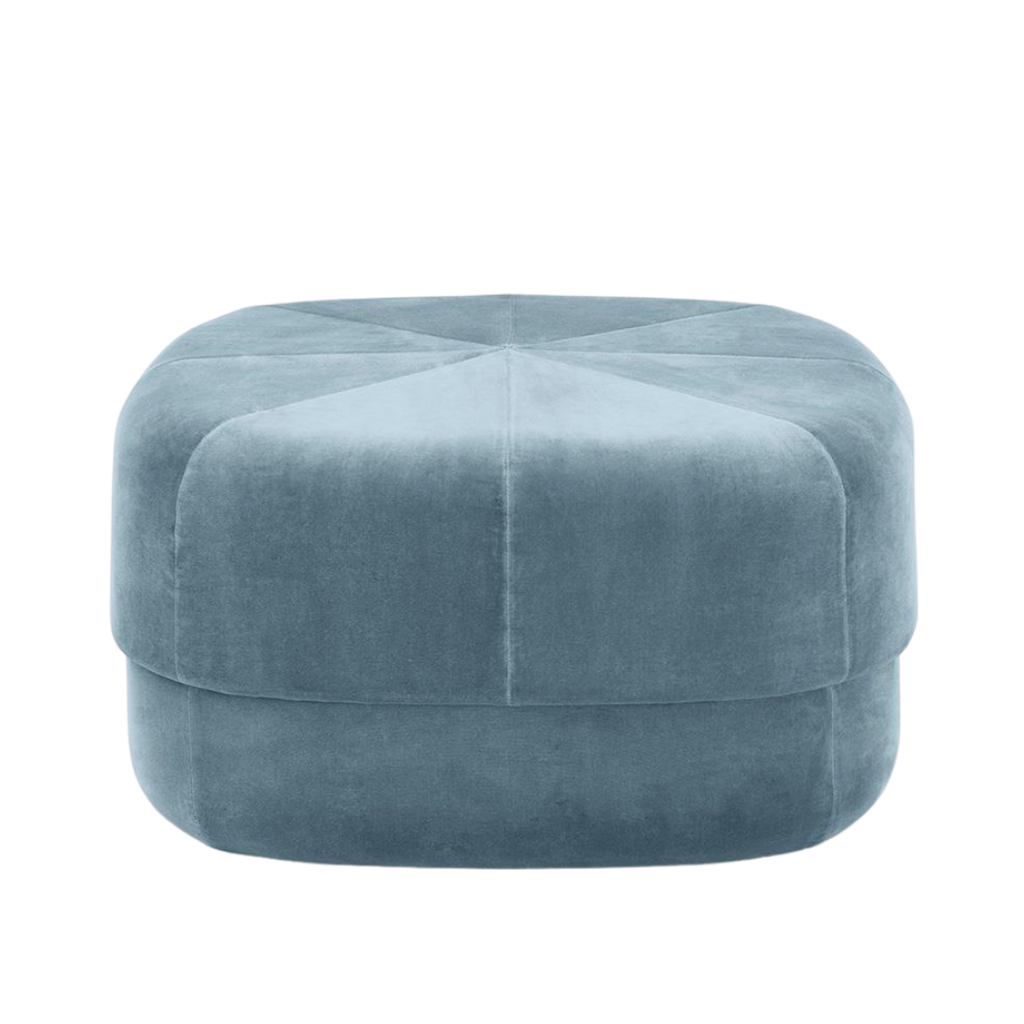 Simon Legald for Normann Copenhagen Large Velour Circus Pouf