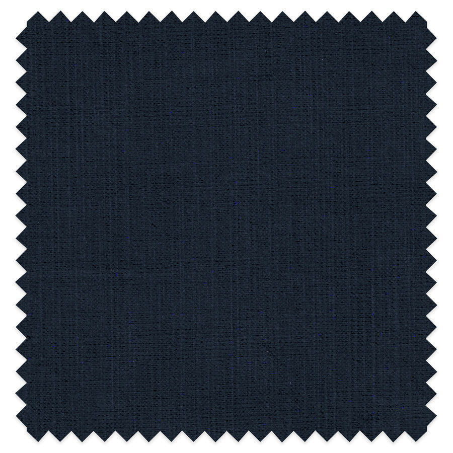 Midnight Navy Cotton Throw Pillow