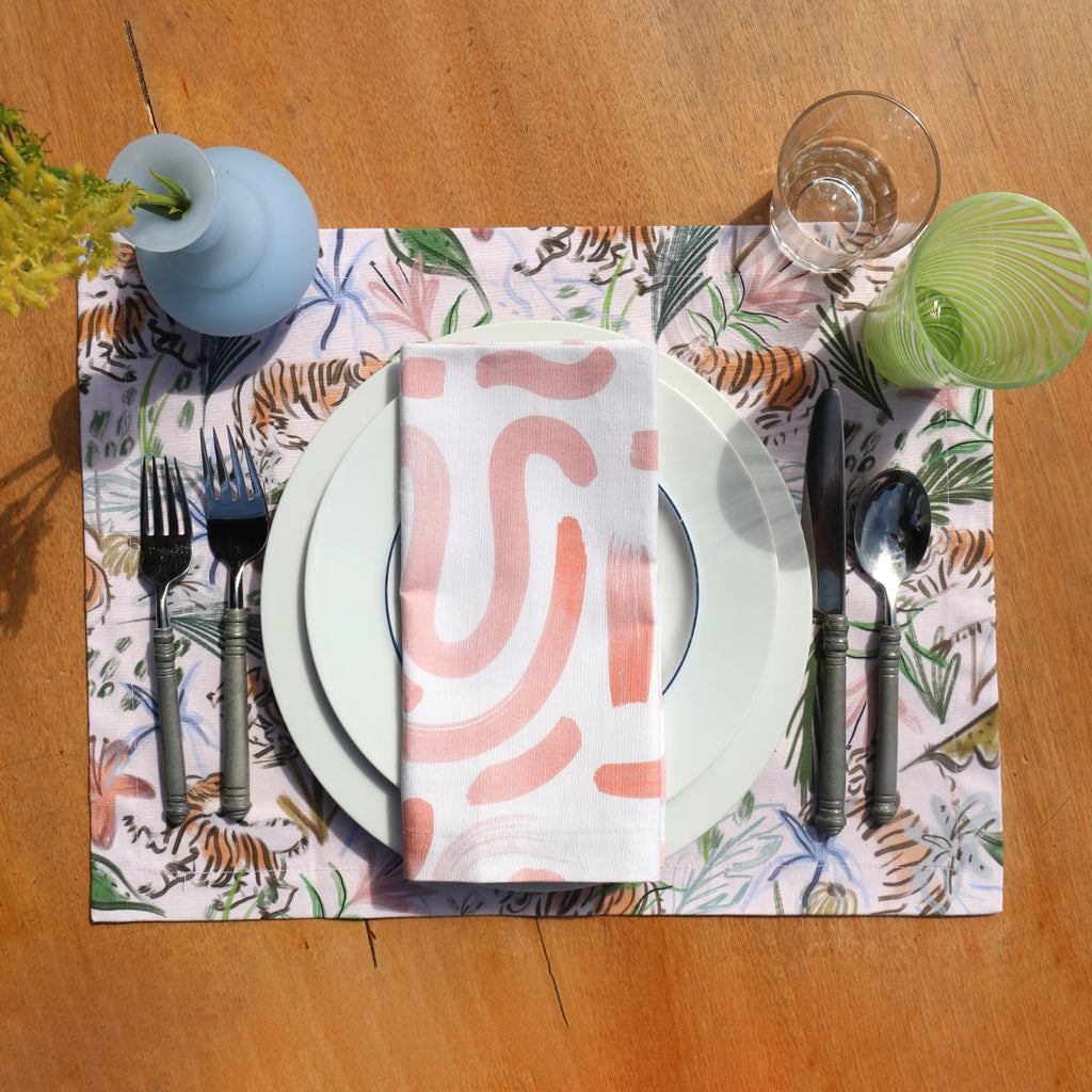 Hockney Napkin with Frida Placemat