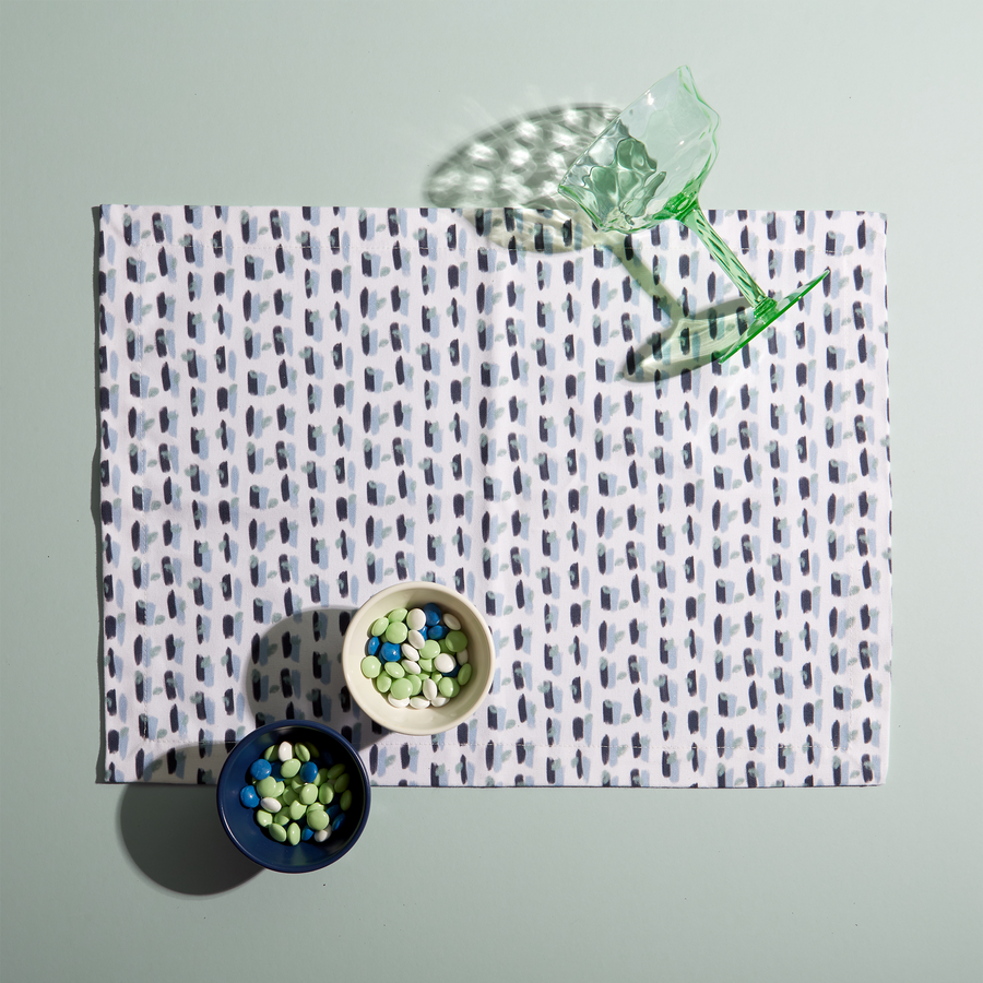 Poppy Blue Placemat