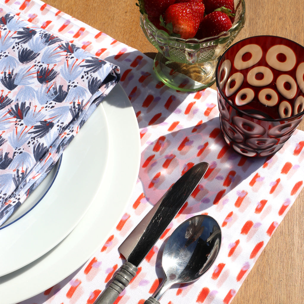 Eden Napkin with Poppy Placemat