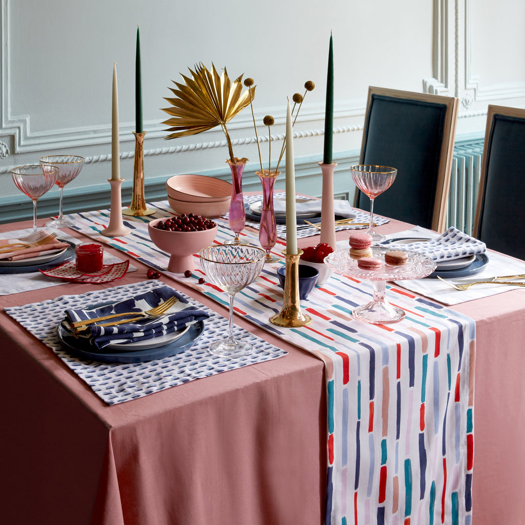 Festive Tablescape with Poppy Napkins
