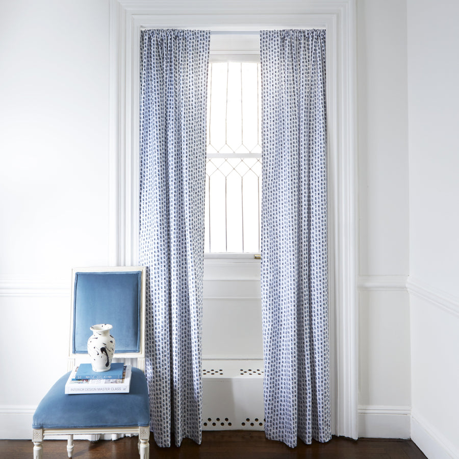 Poppy Blue Curtain