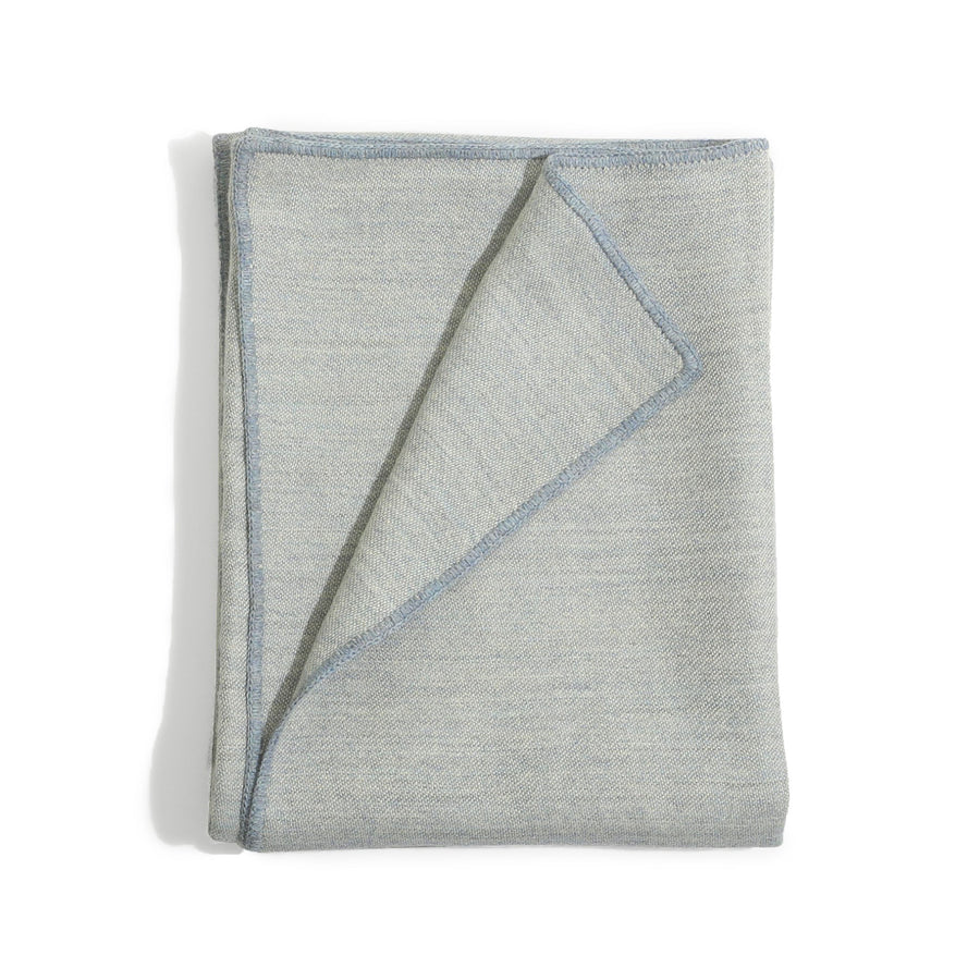 James Alpaca Throw in Light Slate Blue