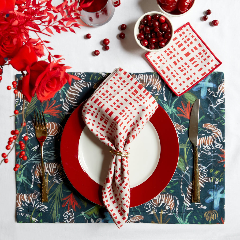 Frida and Ginger Holiday Placesetting