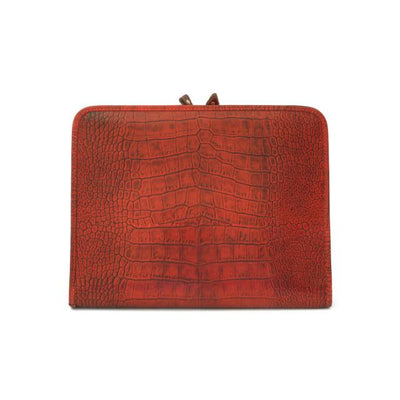 Pratesi Unisex Italian Leather Dante King Portfolio Notepad Holder