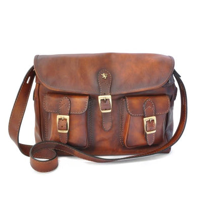 Pratesi Womens Italian Leather Cross-Body Messenger Satchel Bag Maremma in Cow Leather