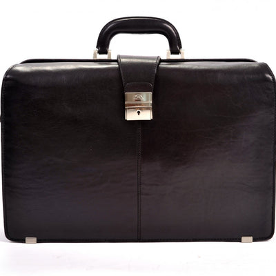 Tony Perotti Benevento Double Compartment Lawyer's Laptop Briefcase Black