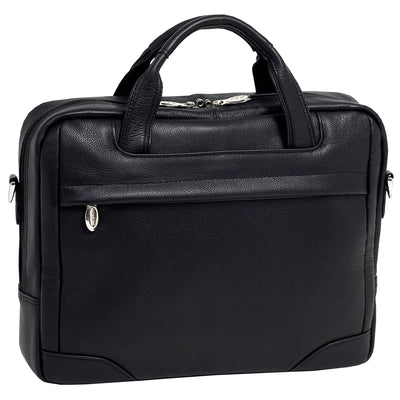 "[Custom]McKleinUSA Mens BRONZEVILLE 15.6"" Leather Medium Laptop Brief in Black"