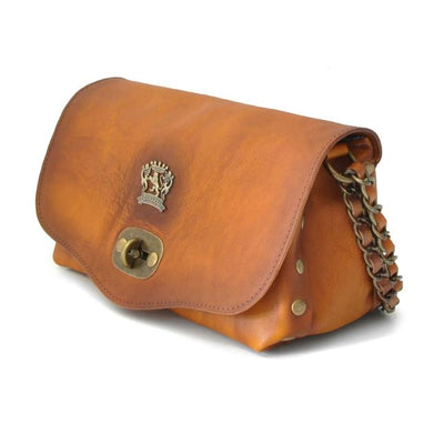 Pratesi Womens Italian Leather Castel Del Piano Clutch in Cow Leather