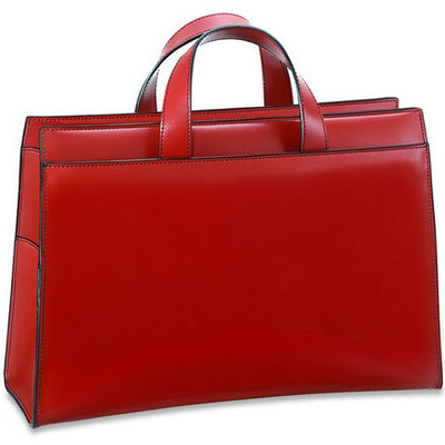 Jack Georges Milano Collection Women's Top Zip Leather Business Tote