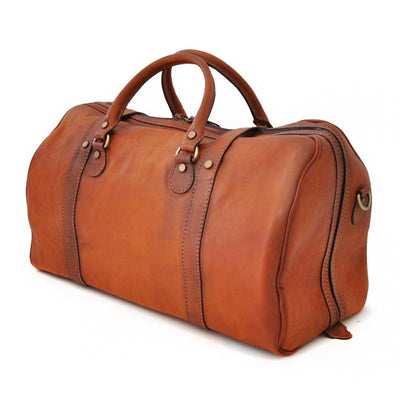 Pratesi Unisex Italian Leather Bruce Perito Moreno Travel Duffel Bag In Cow Leather