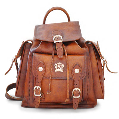 Pratesi Mens Italian Leather Montalbano Bruce Backpack In Cow Leather