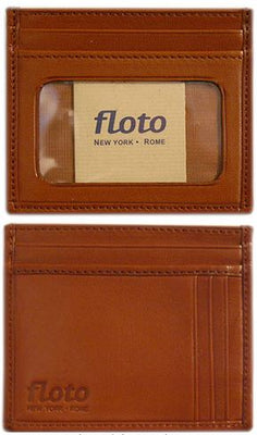 Floto Mens Leather Card Case wallet in Tan
