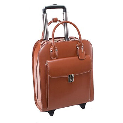 "McKlein USA Uptown 15.6"" Leather Vertical Wheeled Ladies' Briefcase"